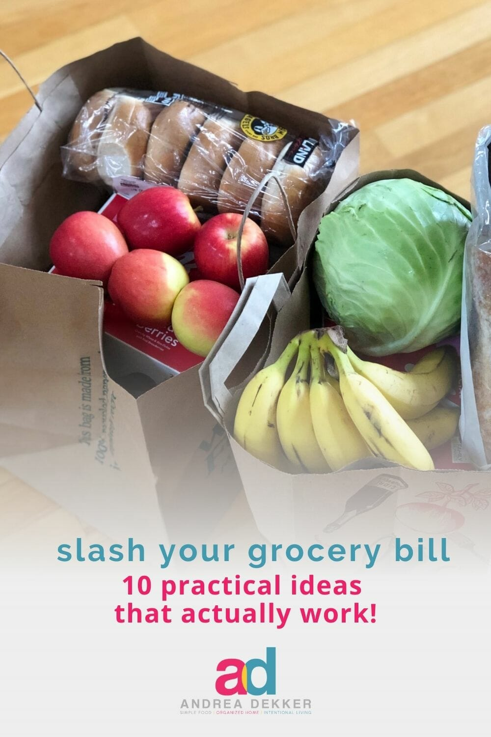 Stop clipping coupons and shopping at multiple stores. These practical tips will slash your grocery bill THIS WEEK… and save you a bunch of time and stress too! via @andreadekker