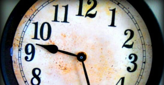 rustic clock