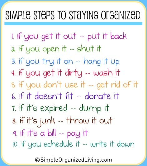 simple tips to stay organized andrea dekker