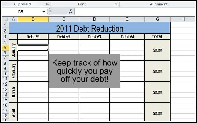 Printables Debt Reduction Worksheet track your finances andrea dekker 5