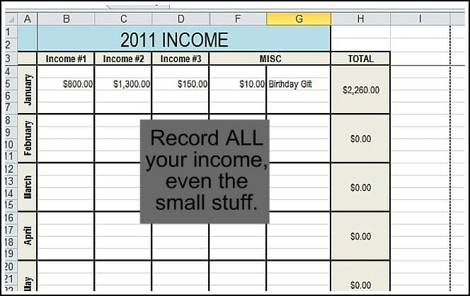 Printables Self Employed Income Worksheet track your finances andrea dekker whether you have a full time job 2 part jobs or several random forms of income can edit this worksheet to fit needs