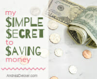 the secret to saving money