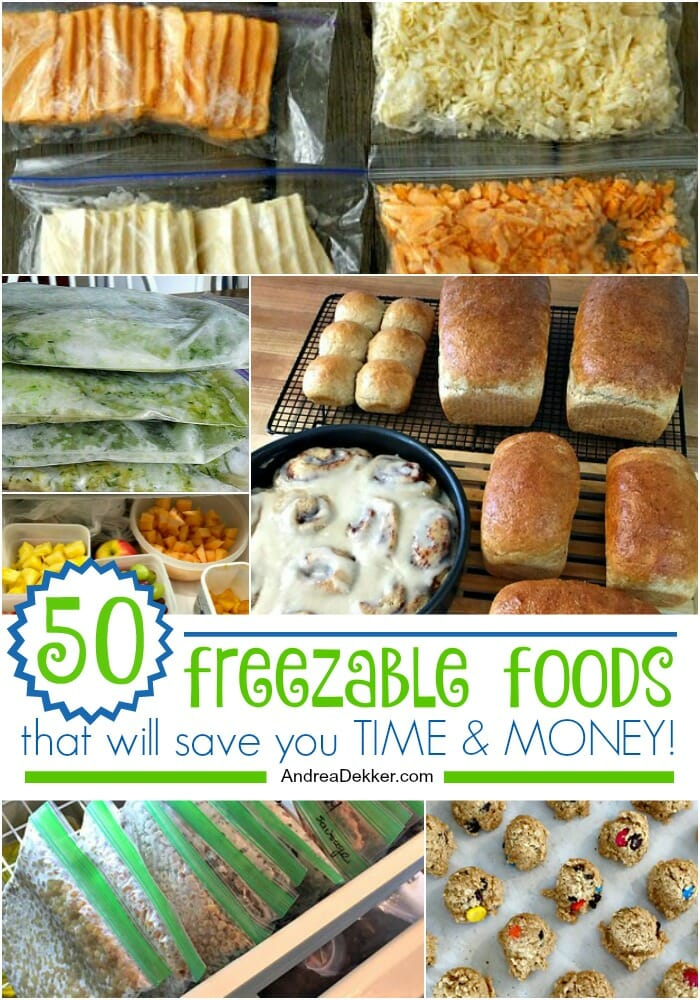 50 freezable foods