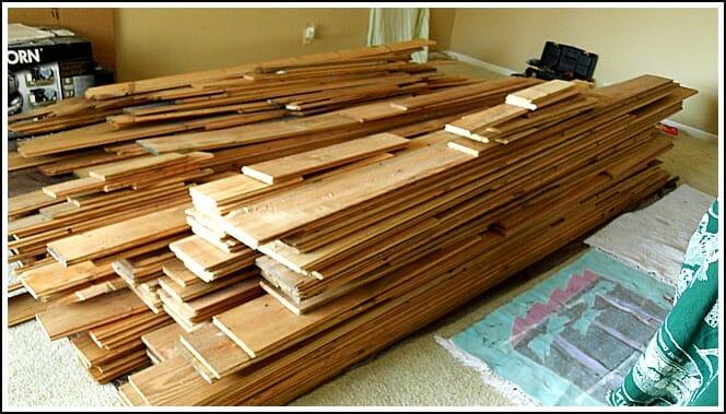 We purchased our reclaimed barn wood ... - Our Reclaimed Barn Wood Floors - Andrea Dekker