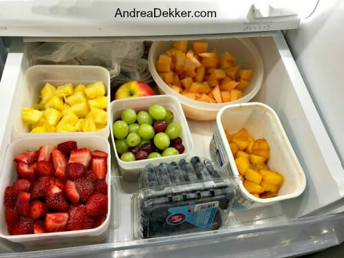 fresh fruit in drawer