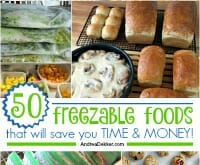 freezable foods