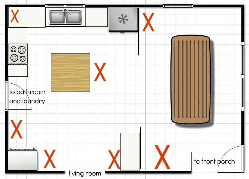Our Kitchen Floor Plan - A Few More Ideas - Andrea Dekker