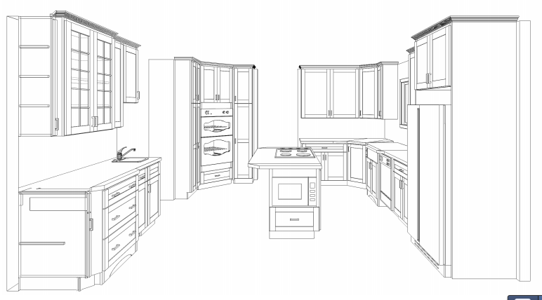 How to Draw Floor Plans for Kitchen Cabinets