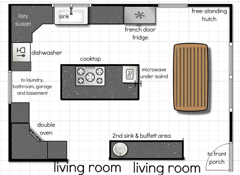 Our Kitchen Floor Plan - A Few More Ideas | Andrea Dekker