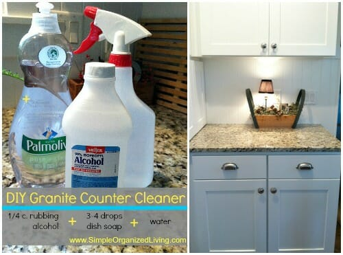 If you don't feel like making your own cleaner, here are a few store bought cleaners specifically for granite (affiliate links).