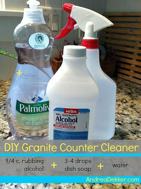 DIY Granite counter cleaning product