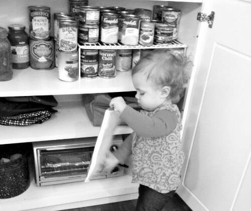 nora in the pantry