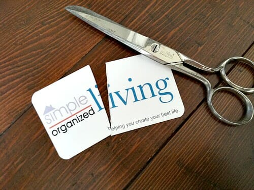 cutting up my business cards