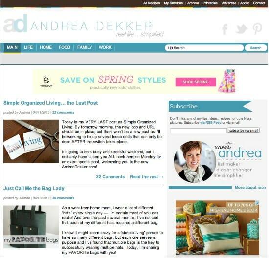 new andreadekker.com
