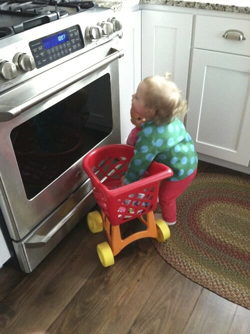 nora looking in the oven