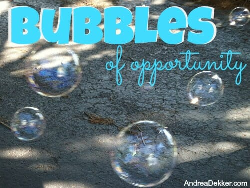 Bubbles of Opportunity