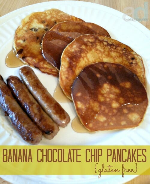 banana chocolate pancakes