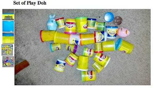 dried up play doh