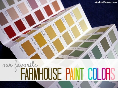 favorite farmhouse paint colors