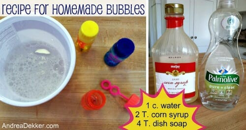 recipe for homemade bubbles