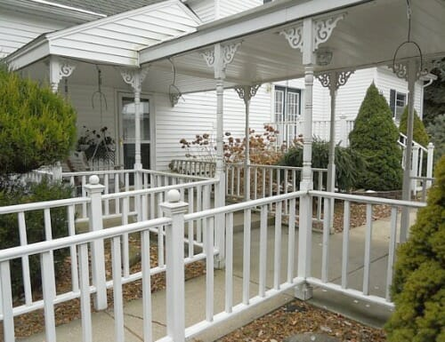 white railings