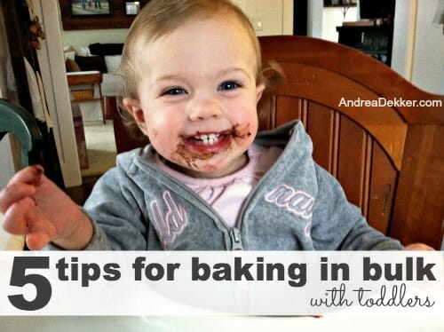 5 tips for baking in bulk with toddlers