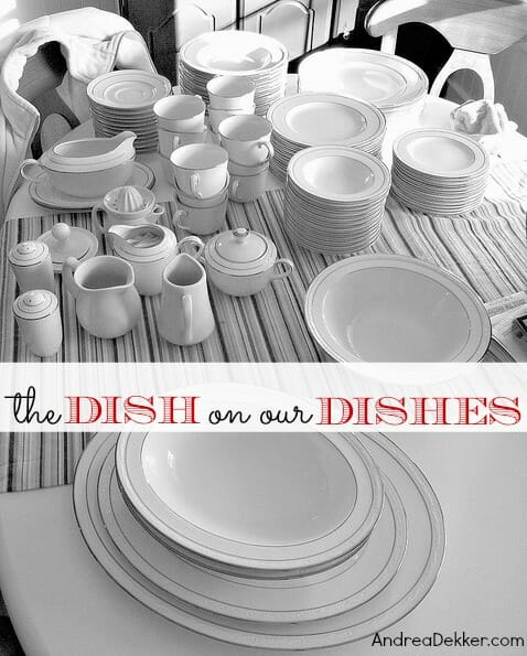 our dishes