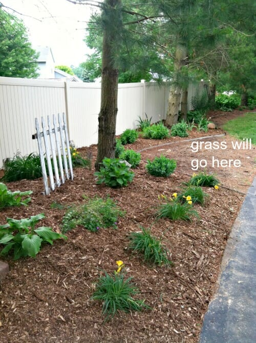 planting bed by garage