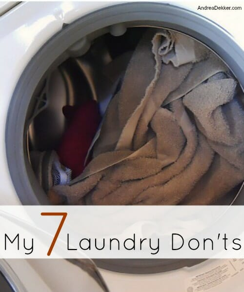 laundry don'ts