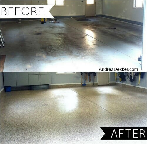 before after garage floor