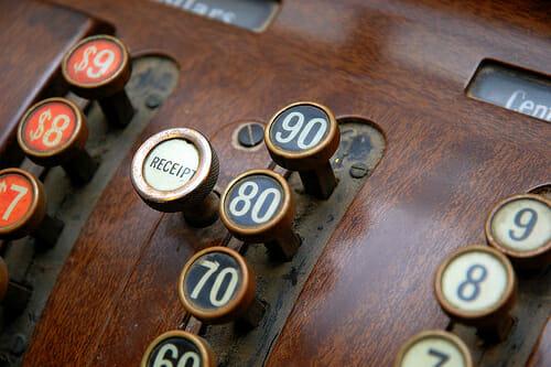 old fashion cash register
