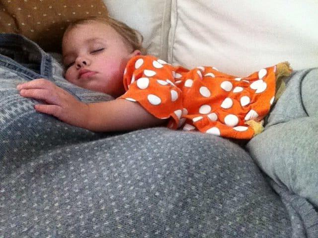 sleeping on mama