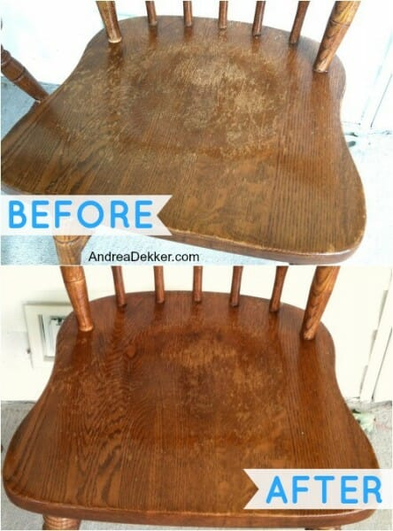 before and after wood furniture restoration