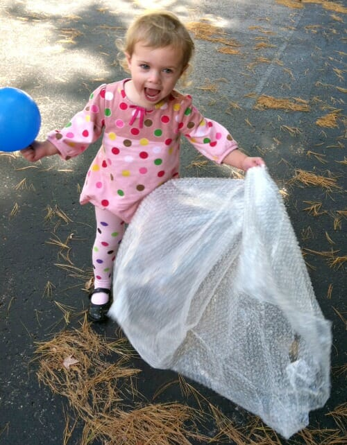 bubble wrap and balloons