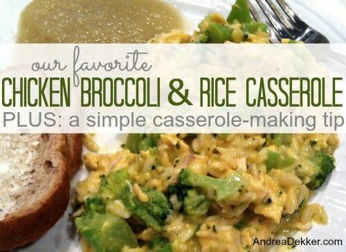 chicken broccoli and rice casserole