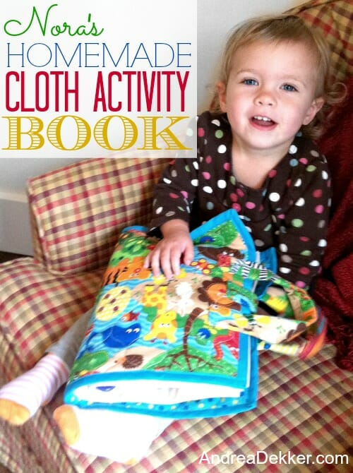 cloth activity book