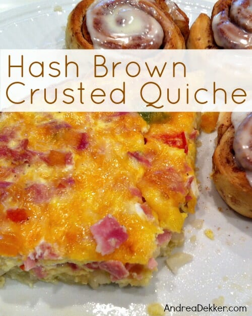 hashbrown crusted quiche