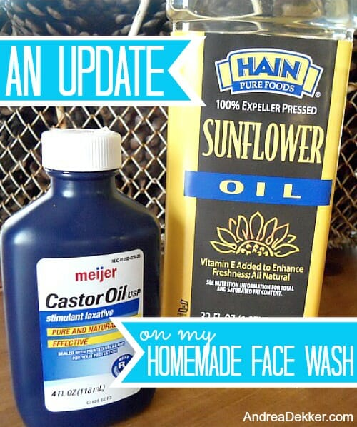 homemade face wash update