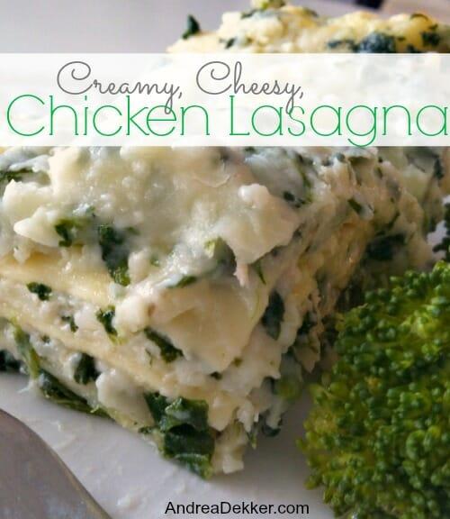Creamy Cheesy Chicken Lasagna
