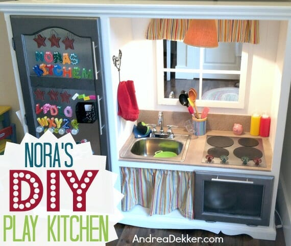 Nora's New DIY Play Kitchen! - Andrea Dekker