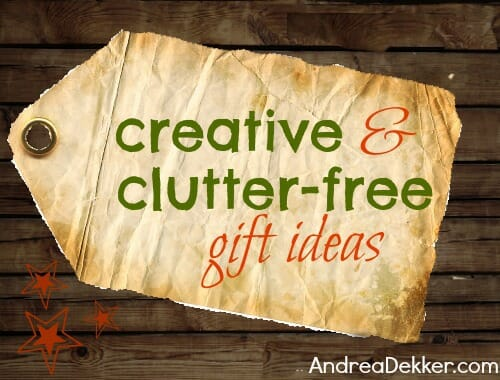 creative and clutter-free gift ideas