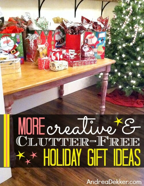 creative and clutterfree gift ideas