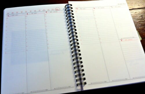 current planner pages