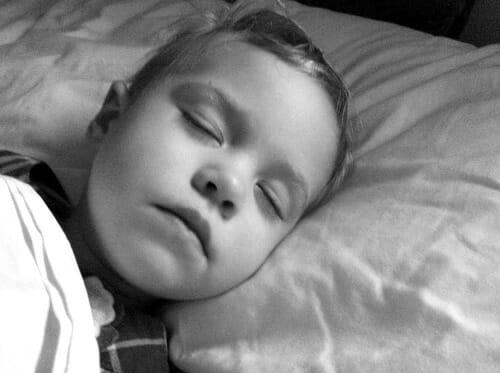 sleeping like and angel