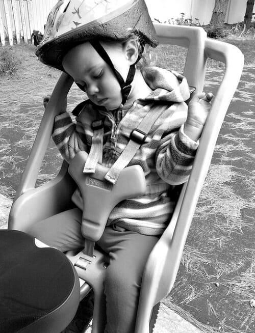 sleeping on the bike