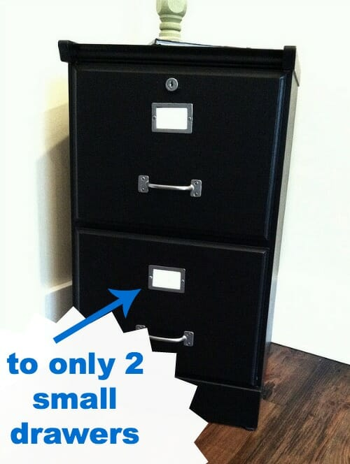 2 smaller drawers