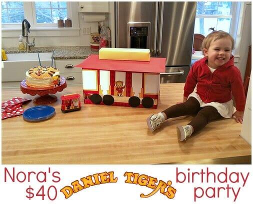 Nora's $40 Daniel Tiger Birthday Party - Andrea Dekker