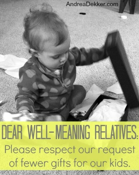 dear well meaning relatives