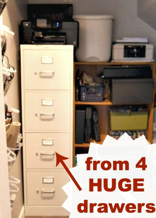 huge 4 drawer filing cabinet