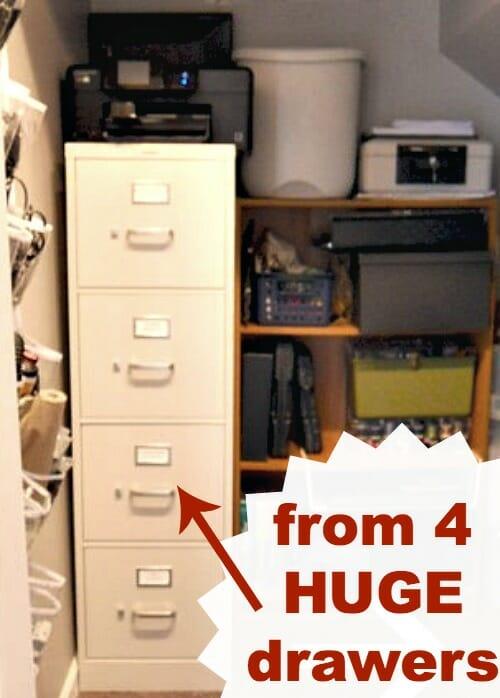 huge 4 drawer filing cabinet